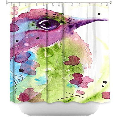 Shower Curtain Artistic Designer from DiaNoche Designs Stylish, Decorative, Unique, Cool, Fun, Funky Bathroom by Dawn Derman - Spring Dreaming