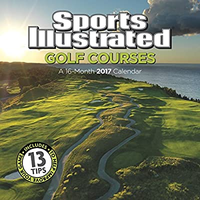 "Trends International 2017 Wall Calendar, September 2016 - December 2017, 11.5"" x 11.5"", Sports Illustrated Golf Courses"