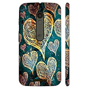 Enthopia Designer Hardshell Case Love Is In The Air Back Cover for Motorola Moto X3