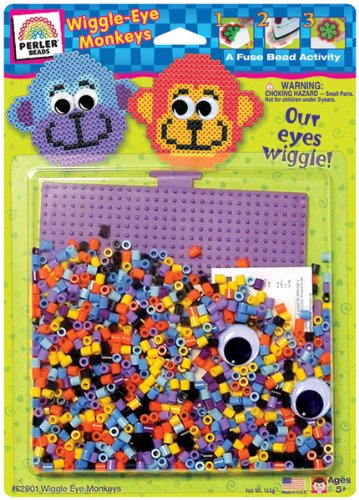 Fuse Bead Activity Kit: Wiggle Eye Monkey's