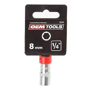OEMTOOLS 22245 8mm 1/4 Drive Socket (Tamaño: 8mm)