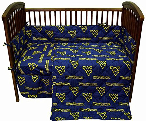College Covers West Virginia Mountaineers Baby Crib Fitted Sheet Pair - Solid (Includes 2 Fitted sheets)