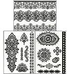 Tatuajes temporales de Henna de encaj...