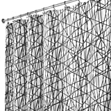InterDesign Abstract Polyester Shower Curtain, Black/white