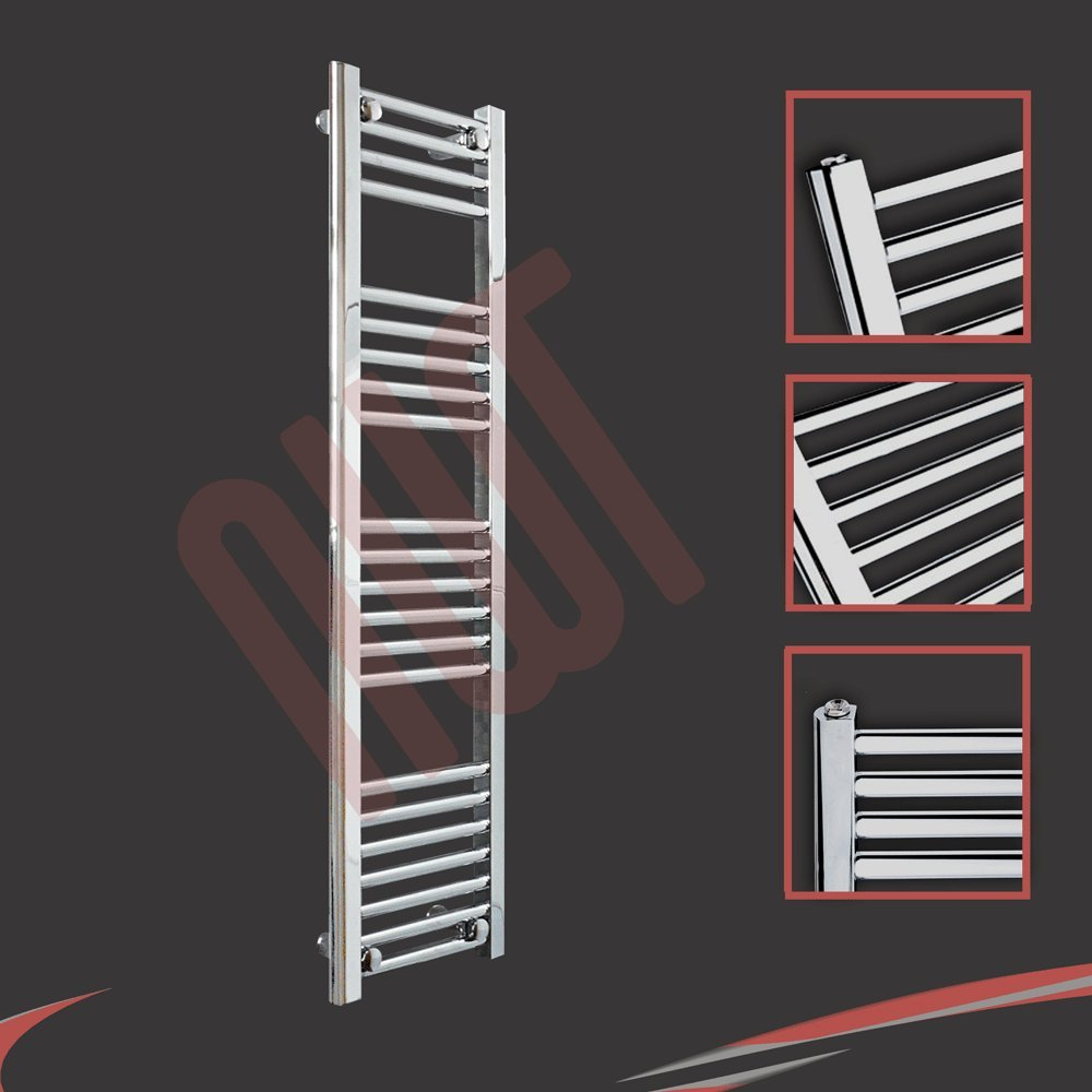 300mm(w) x 1200mm(h) Straight Chrome Heated Towel Rail, Radiator, Warmer 1326 BTUs Bathroom Central Heating Ladder Rail       reviews and more information