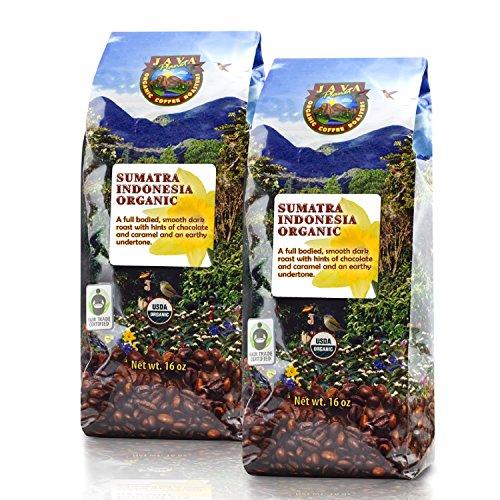 Java Planet - Sumatra Indonesian USDA Organic Coffee Beans, Dark Roasted, Fair Trade, Arabica Gourmet Specialty Grade A - 2 1lb bags (Sumatra Hot Sauce compare prices)