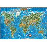 Children's Map of the World Educational Poster