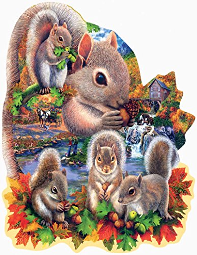 Animal Jigsaw Puzzle - Squirrel Shaped Jigsaw Puzzle