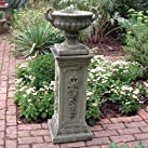 Large Garden Planter - Modena 29 Stone Vase Plant Pot on Plinth