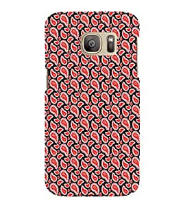 iFasho Modern Art Design animated cloth Pattern of flower Back Case Cover for Samsung Galaxy S7