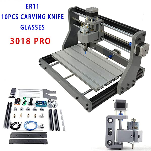 KPfaster Engraving Router CNC 3018 DIY Laser Engraving Router Carving Drilling Milling Cutting Machine