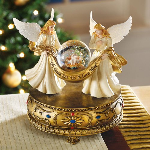 Angels Christmas Musical Snow Globe