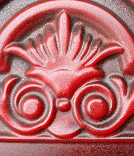 PL16imitation peint à la main rouge ANTIQUE plafond Panneaux muraux décoration carrelage 3D en relief Cafe Pub Shop Art 10pieces/Lot
