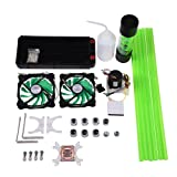 Bewinner Water Cooling Kit for PC 240mm Heat Sink CPU Water Block LED Fan Computer Cooling Kit Water Chiller Water Cooling Systems (Color: default)