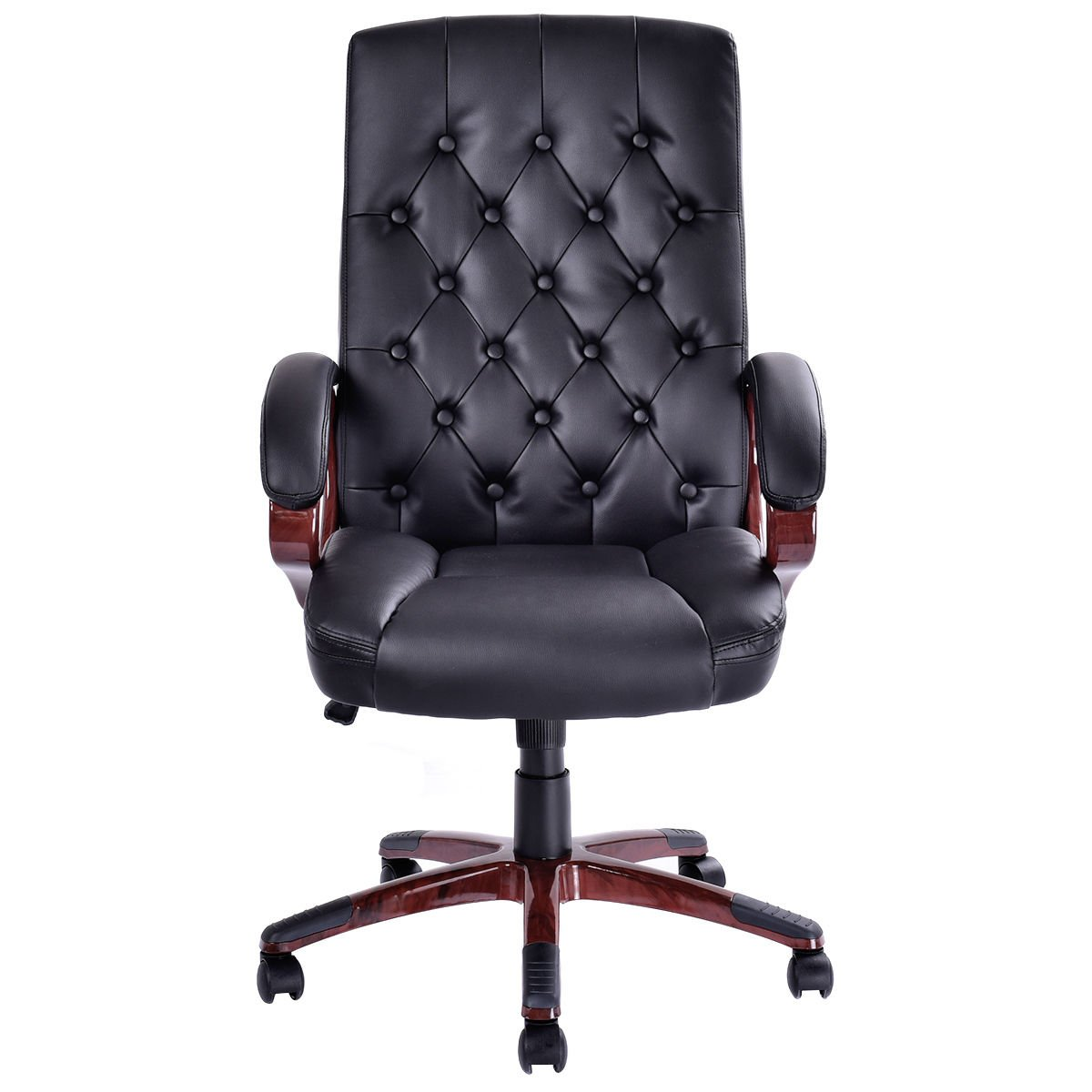 Giantex Ergonomic High Back Traditional Tufted Swivel Office Executive Chair, Black 1