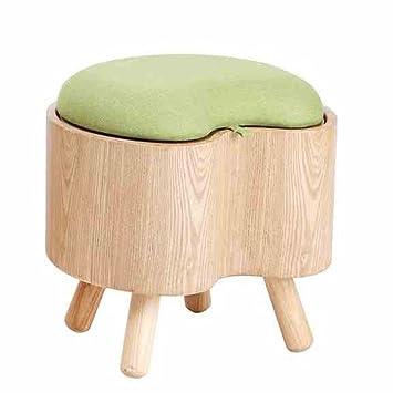 Semplice stoccaggio Sgabello Cambio di scarpe sgabello di legno solido Stoccaggio Sgabello indossare un semplice sgabello moderno Divano Sgabello spogliatoio sgabello (40 * 36 * 37 centimetri) Può sedersi sullo sgabello