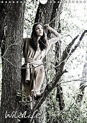 wildlife-wandkalender-2017-din-a4-hoch-hunting-and-fishing-medieval-girl-monatskalender-14-seiten-ca