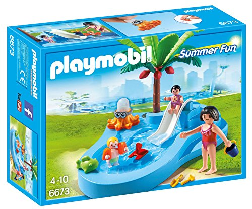 PLAYMOBIL Baby Pool with Slide Playset