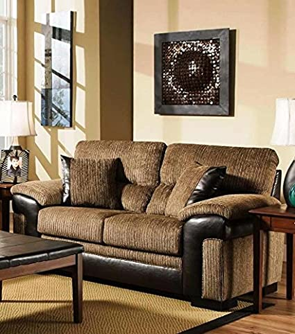 Chelsea Home Furniture Arya Loveseat, Banner Brown/San Marino Mocha