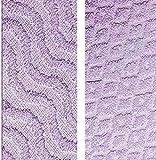 "Diamond Dots and Waves 100% Cotton Bathroom Towels (Lilac, Set of 2 Bath Towels (27"" x 54""))"