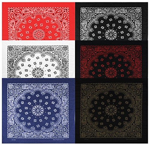 large-bandanas-27-x-27-versatile-biker-rags-classic-paisley-bandana-pattern6-packbwhite-bcopper-bred