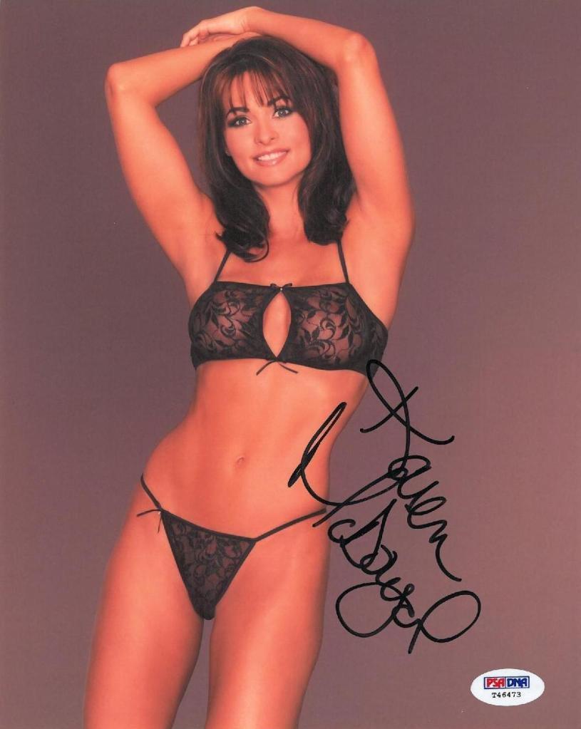Karen mcdougal signed authentic autographed 8x10 photo psa dna