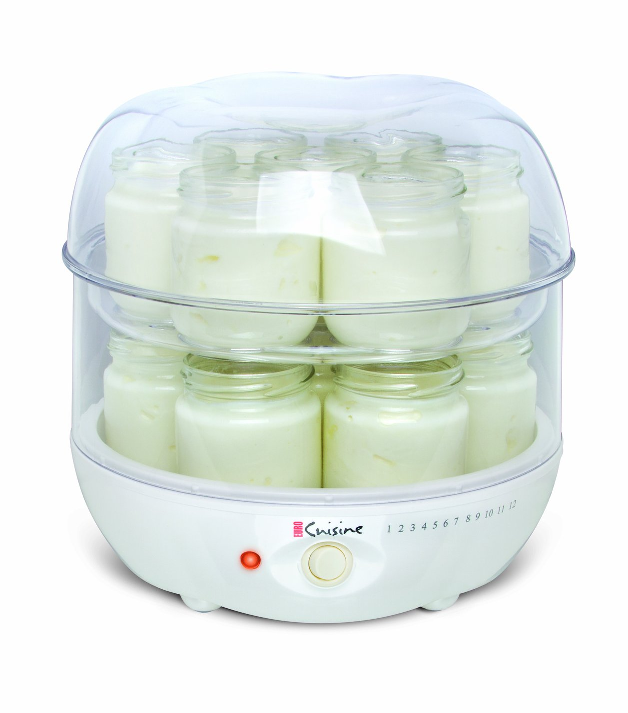 Euro cuisine gy4 top tier of yogurt maker new free for Cuisine generator