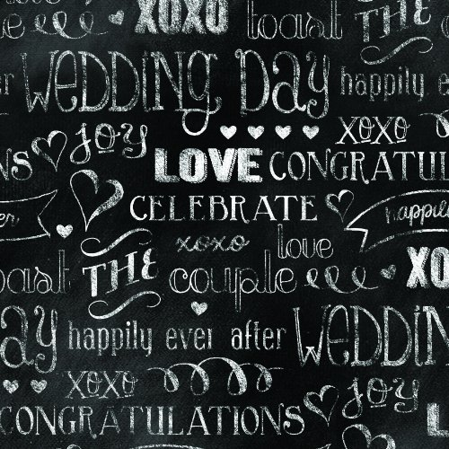 The Gift Wrap Company Deluxe Quality Gift Wrap Roll, Chalkboard Love front-528876
