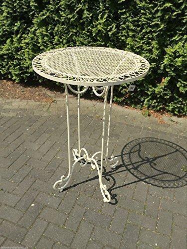 Gartenmöbel Tisch Garten Eisen Bistrotisch Bartisch Gartentisch Antikstil H101cm günstig bestellen