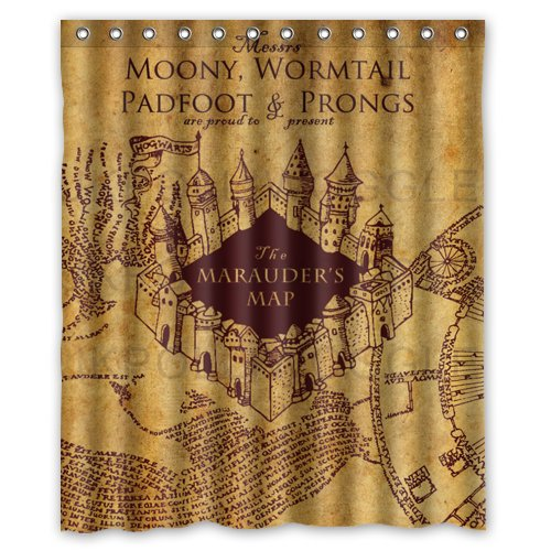 NEW ARRIVAL 2014 Seconds Kill Harry Potter The Marauder S Map Shower Curtian Bath Curtain 60 x 72 inch
