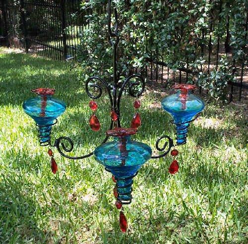Blown glass chandelier discount november 2011 parasol ch3aq b aqua hand blown glass hummingbird feeder 3 port chandelier review mozeypictures Gallery