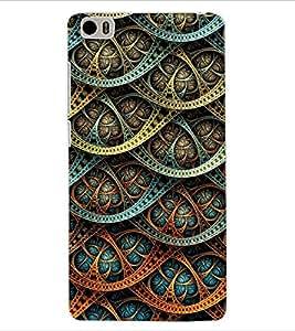 ColourCraft Beautiful Pattern Design Back Case Cover for XIAOMI MI 5