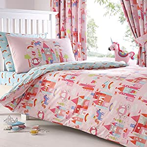 Bluezoo Kids 39 Castle And Unicorns 39 Bedding Set Double Bluezoo Kitchen Home