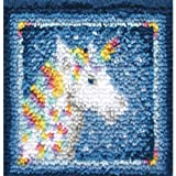 Wonderart Latch Hook Kit 12X12 Unicorn
