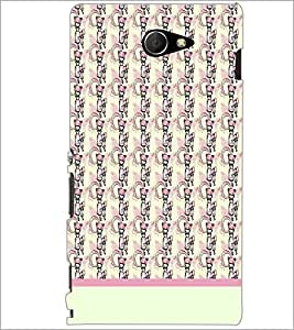 PrintDhaba Girl Pattern D-1920 Back Case Cover for SONY XPERIA M2 (Multi-Coloured)