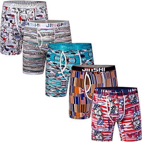jinshi-mens-5-pack-soft-flex-bamboo-trunks-active-long-leg-boxer-briefs-size-3xl