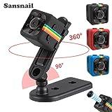 Sansnail 2017 New Original Mini Camera SQ11 HD Camcorder SQ8 SQ9 upgrade Night Vision Mini Camera 1080P Sports Mini DV Voice Video Recorder(Black) (Color: Black)