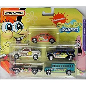 Amazon.com: Matchbox Nickelodeon 5 Packs Die Cast Cars