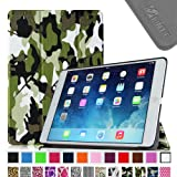 Fintie SmartShell Case Ultra Slim Lightweight Stand with Smart Cover and Auto Wake/Sleep for Apple iPad Air - Camouflage Green