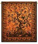 Art orange Bohemian Tapisserie mur Hi...