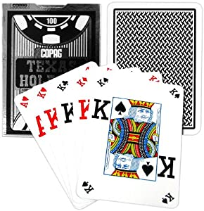 Copag Poker Size Peek Index Texas Holdem Playing Cards (Single Black Deck)