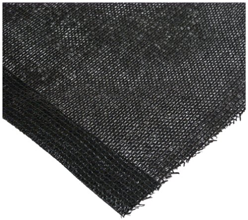 Easy Gardener 75012 Sun Screen Fabric - Heavy Black - 6-Foot x 12-Foot - 75% Sun Block