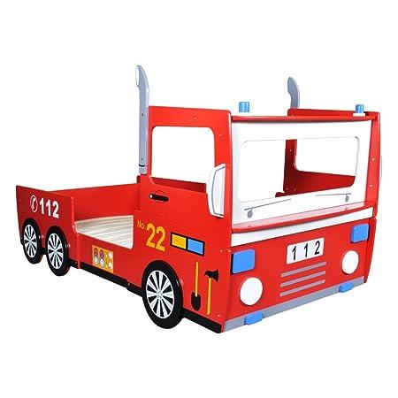 Cama de Niños Tema de Camión de Bomberos 200 x 90 cm