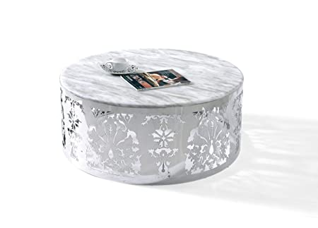 CF132 - Modern Marble Top Coffee Table White