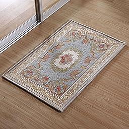 XH@G Carpet floor mats and stepping kitchen absorbent pad-home mat non-slip bath mat , blue , 60cm*90cm