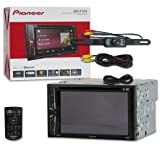 New Pioneer Car Audio Double Din 2DIN 6.2 Touchscreen DVD MP3 CD Stereo Built-in Bluetooth + Remote & DCO Waterproof Backup Camera with Nightvision (Tamaño: 6.2