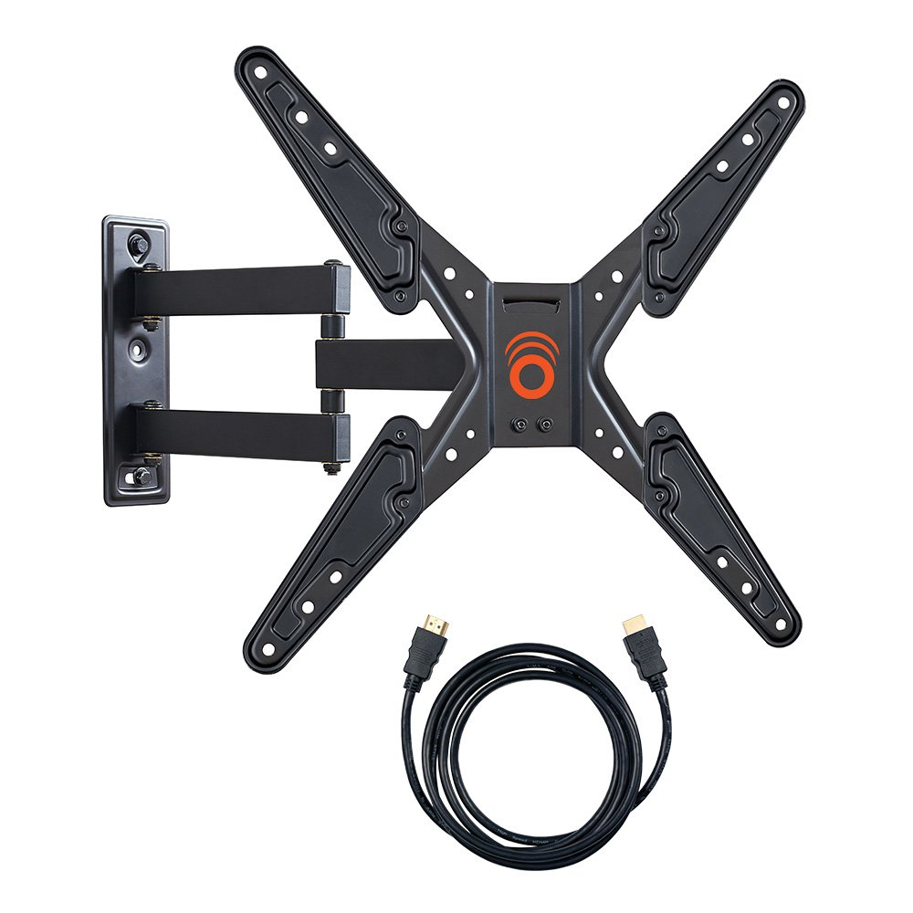 "ECHOGEAR Full Motion Articulating TV Wall Mount Bracket for 26-50"" LED, LCD, OLED and Plasma Flat Screen TVs with VESA patterns up to 400 x 400 - Includes 6"