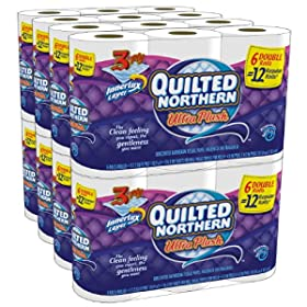 48-Count Quilted Northern Ultra Plush Double Rolls Toilet Tissue $22.74