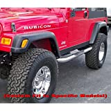 "MaxMate Custom Fit 1976-1986 Jeep Wrangler CJ7 3"" Side Armor Step Nerf Bars Stainless Steel Running Boards"