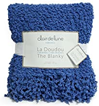 Cobalt Blue Popcorn Throw Blanky - Blanket for Indoor Holiday Decor - Living Room Bedroom Decor Acce